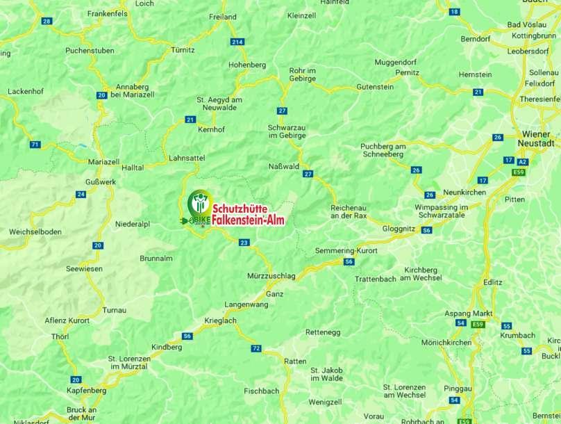 Anreise Falkensteinalm Neuberg an der Mürz