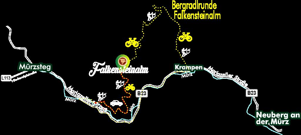 Bergradlrunde Falkensteinalm Route 2021
